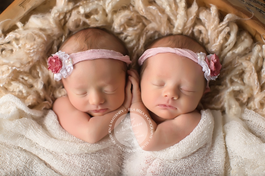 Newborn Twin Girl Photography