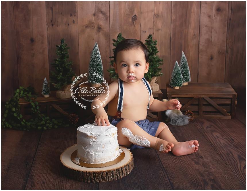San Antonio One Year Cake Smash Photographer