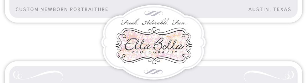 Austin Newborn Baby Posing Photographer ~ Ella Bella Photography logo