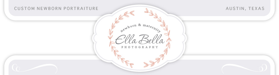 Austin Newborn Photographer ~ Ella Bella Photography logo