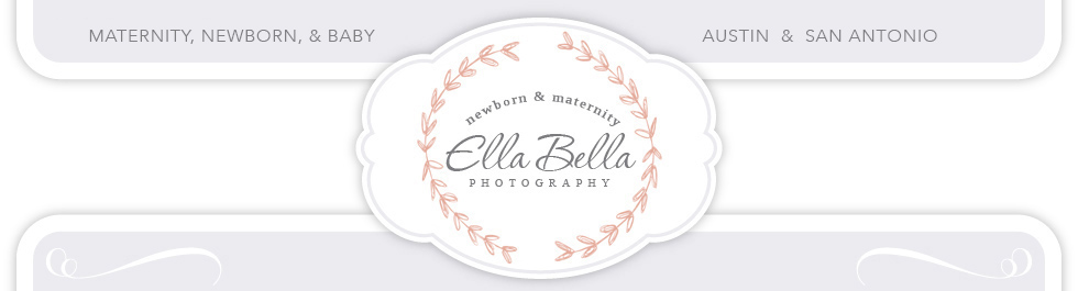 Ella Bella Photography – Newborn Photographer in Austin & San Antonio, Maternity, Baby, Child, Family logo